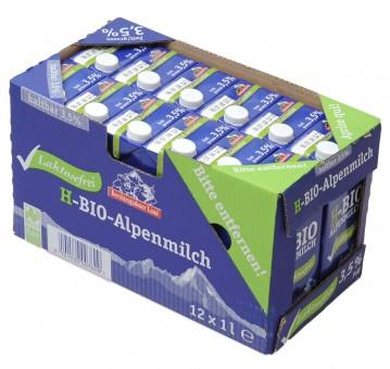 Haltbare Bio-Alpenmilch laktosefrei 3,5%, 12x1 l