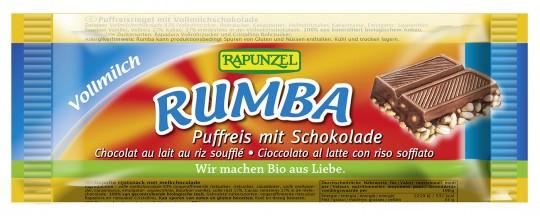 Bio Rumba Puffreisriegel Vollmilch, 50 g