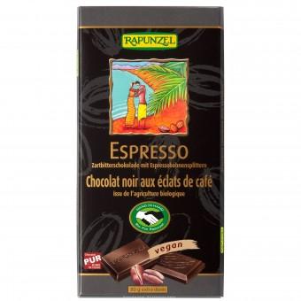 Bio Zartbitter Schokolade mit Espresso-Splittern 51%, 80 g