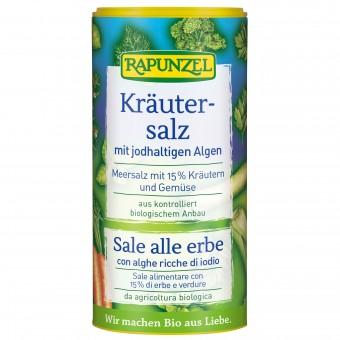 Bio Kräutersalz jodiert mit 15% Kräutern & Gemüse, 125 g 125g