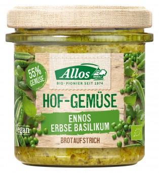 Bio Hof-Gemüse Ennos Erbse-Basilikum, 135 g