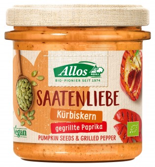 Bio Aufstrich Saatenliebe Kürbiskerne/gegrillte Paprika, 135 g