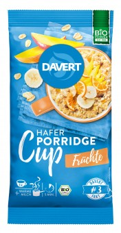 Bio Porridge Cup Früchte, 65 g