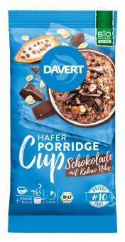 Bio Porridge Cup Schokolade mit Kakao Nibs, 65 g