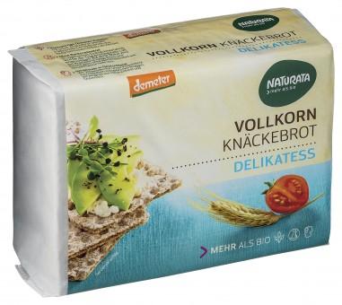 Bio Delikatess Vollkorn-Knäckebrot, demeter, 250 g