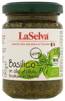Bio Basilico in olio d'oliva, Basilikum in Olivenöl, 130 g