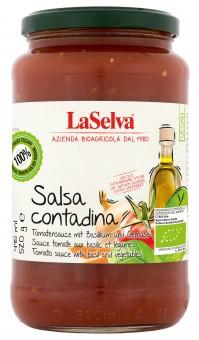 Bio Salsa Contadina - Tomatensauce mit Basilikum & Olivenöl, 520 g