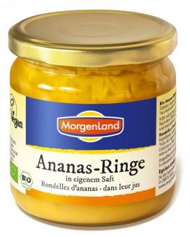 Bio Ananas-Ringe in eigenem Saft, 350 g