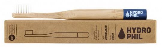Bambus-Kinder-Zahnbürste, blau, extra weich (konventionell)