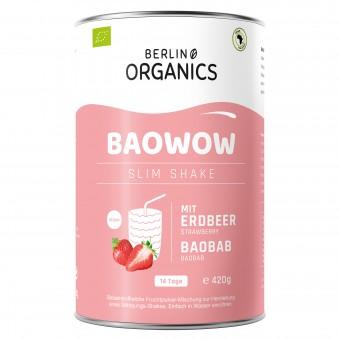 Bio Baowow Slim Shake Erdbeere, 420 g