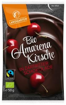 Bio Amarenakirsche in Zartbitter-Schokolade, 50 g