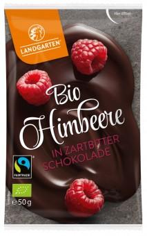 Bio Himbeere in Zartbitter-Schokolade, 50 g