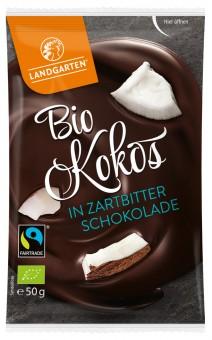 Bio Kokos in Zartbitter-Schokolade, 50 g