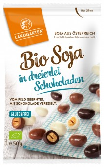 Bio Soja in dreierlei Schokoladen, 50 g