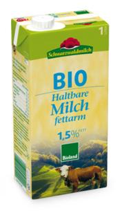 Haltbare Bio H-Milch fettarm 1,5%, 1 l