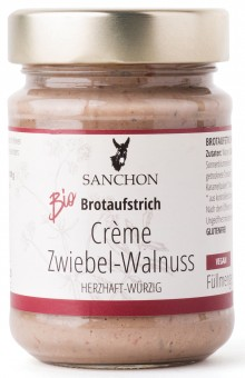 Bio Brotaufstrich Crème Zwiebel-Walnuss, 190 g