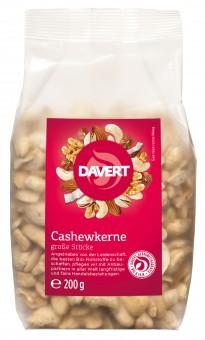 Bio Cashewkerne, große Stücke, 200 g
