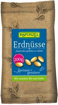 Bio Erdnüsse geröstet, gesalzen, 200 g
