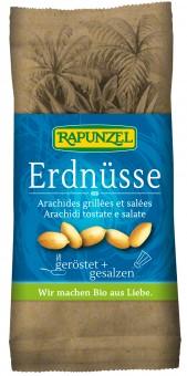 Bio Erdnüsse, geröstet + gesalzen, 75 g