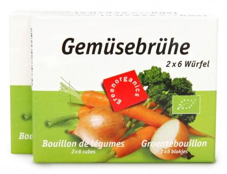 Bio Gemüsebrühe hefefrei, 2 x 126 g (2x6 Würfel)