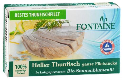 Bio Thunfisch hell in Sonnenblumenöl, 120 g