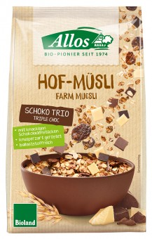 Bio Hof-Müsli Schoko Trio, 375 g