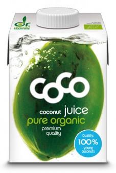 Bio Kokosnusssaft pur, aus der jungen Kokosnuss, 0,5 l