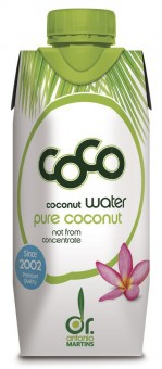 Bio Kokoswasser pur, aus der grünen Kokosnuss, 0,33 l
