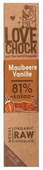 Bio Lovechock Riegel Maulbeere-Vanille, 40 g