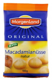 Bio Macadamianüsse natur, 100 g