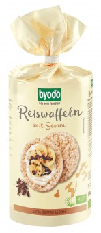 Bio Reiswaffeln mit Sesam, 100 g