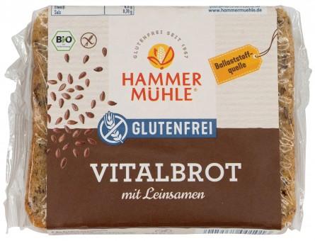 Bio Vitalbrot mit Leinsamen, glutenfrei, 250 g
