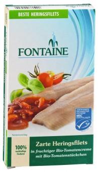 Bio Zarte Heringsfiltes in Bio-Tomatencreme mit Tomatenstückchen, 200 g