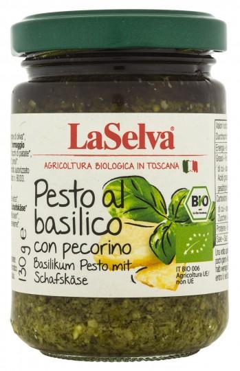 Bio Basilikum Pesto mit Schafskäse, 130 g