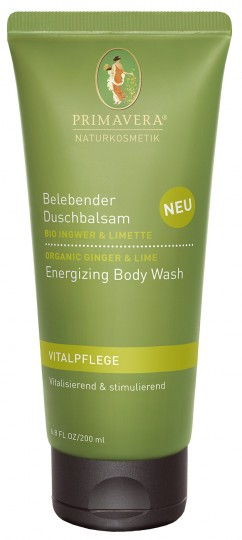 Bio belebender Duschbalsam Ingwer & Limette, 200 ml