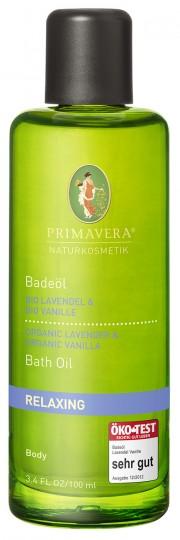Bio beruhigendes Badeöl Lavendel & Vanille, 100 ml