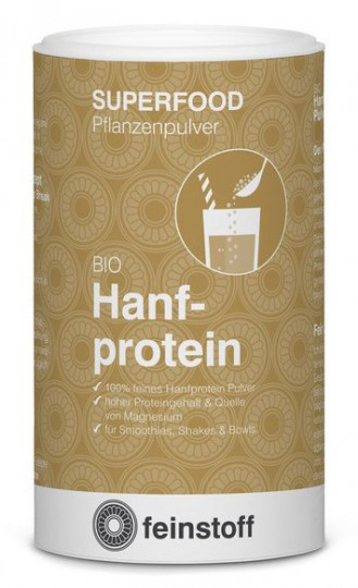 Bio Hanfprotein Pflanzenpulver, 180 g