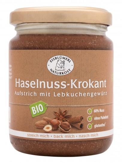 Bio Haselnuss-Krokant Aufstrich mit Lebküchengewürz, 250 g