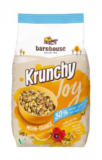 Bio Krunchy Joy Mohn-Orange, 375 g