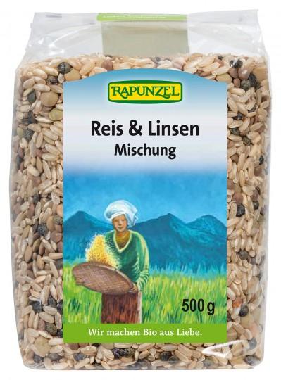 Bio Reis & Linsen Mischung, 500 g