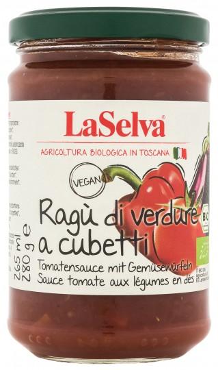 Bio Tomatensauce mit Gemüsewürfeln, 280 g