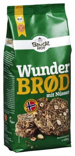 Bio WunderbrØd Backmischung mit Nüssen, glutenfrei, 600 g
