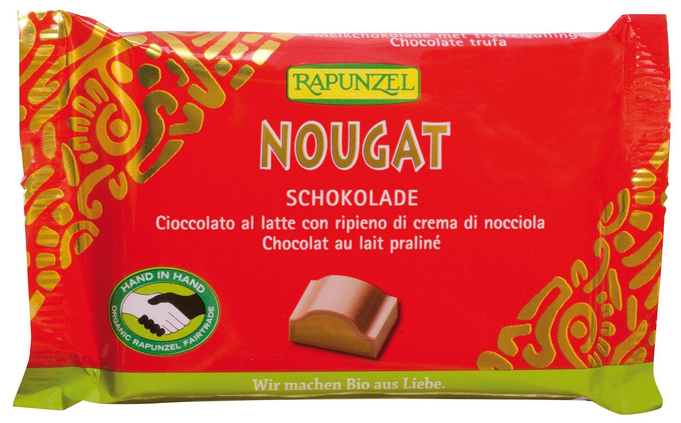 Bio Nougat Schokolade, 100 g