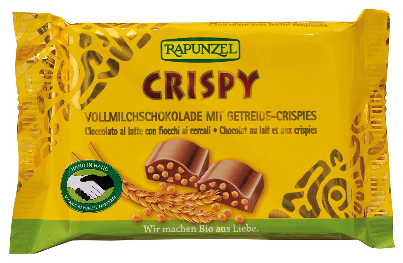 Bio Vollmilchschokolade Crispy, 100 g