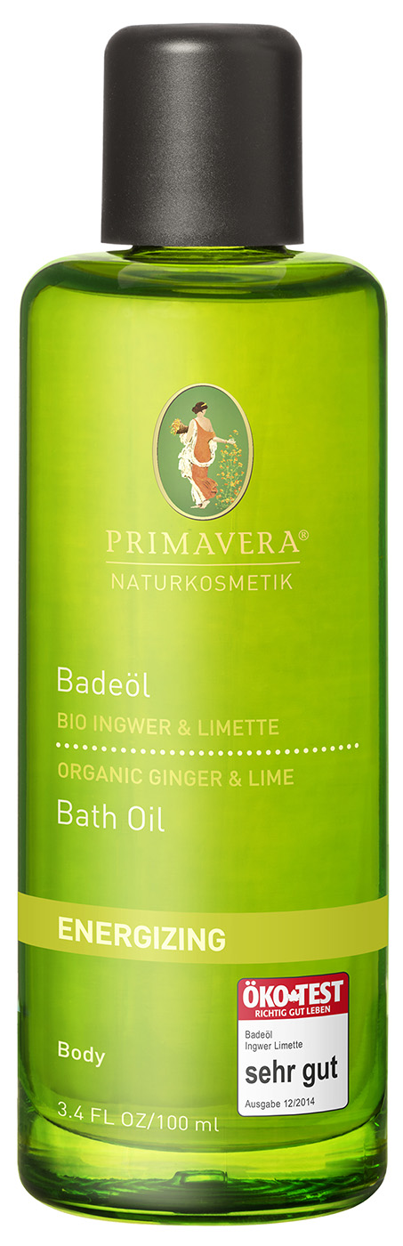 Bio belebendes Badeöl Ingwer & Limette, 100ml