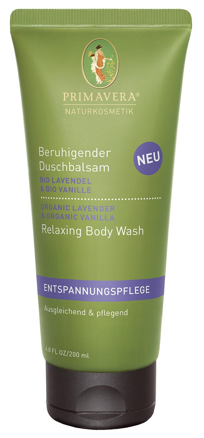 Bio beruhigender Duschbalsam Lavendel & Vanille, 200 ml