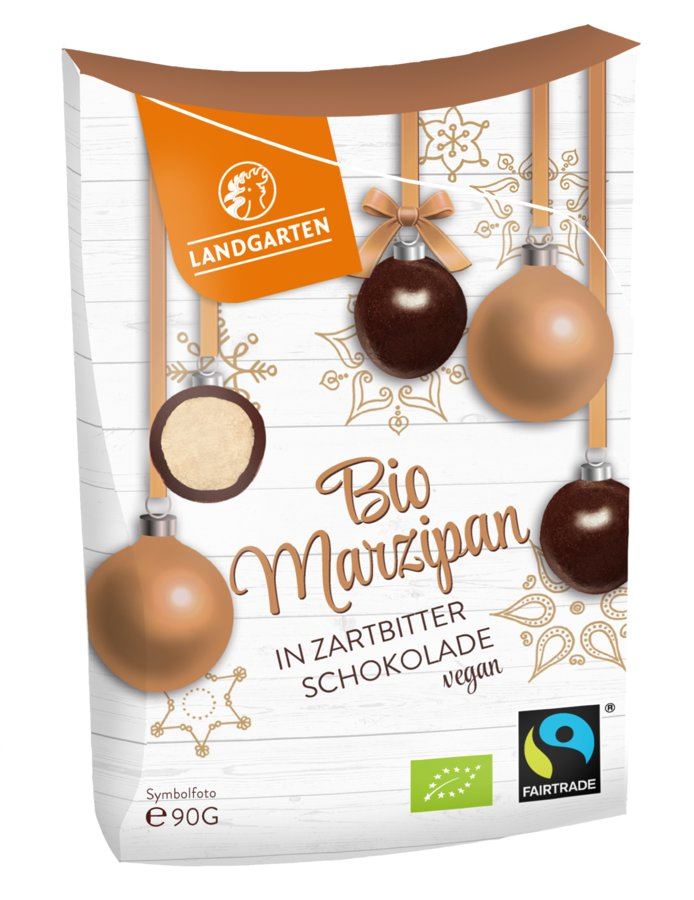 Bio Marzipan in Zartbitter-Schokolade, 90 g