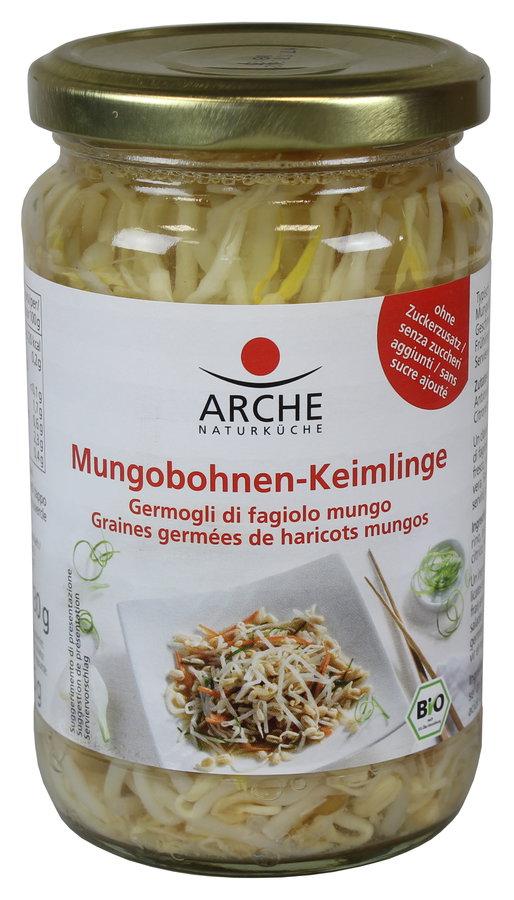 Bio Mungbohnensprossen, im Glas, 330 g