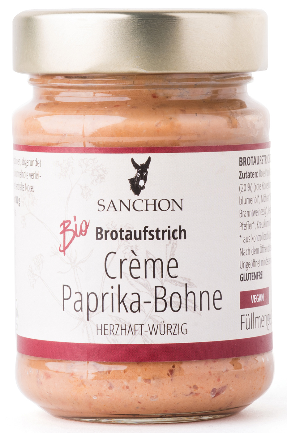 Bio Brotaufstrich Crème Paprika-Bohne, 190 g