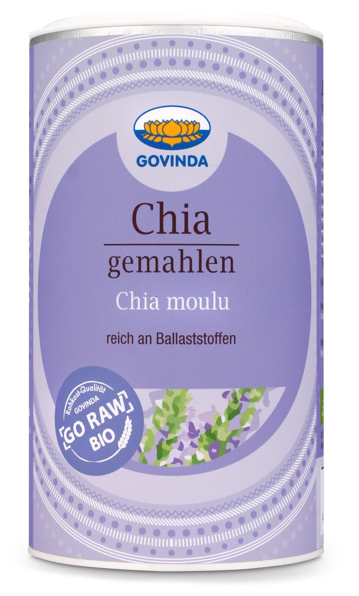 Bio Chia-Samen, gemahlen, 200 g